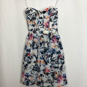 NWT Parker Strapless Abstract Print Mini Dress M